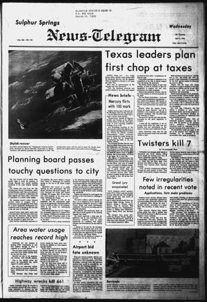 Primary view of object titled 'Sulphur Springs News-Telegram (Sulphur Springs, Tex.), Vol. 100, No. 158, Ed. 1 Wednesday, July 5, 1978'.
