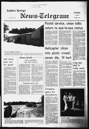Primary view of object titled 'Sulphur Springs News-Telegram (Sulphur Springs, Tex.), Vol. 100, No. 210, Ed. 1 Tuesday, September 5, 1978'.