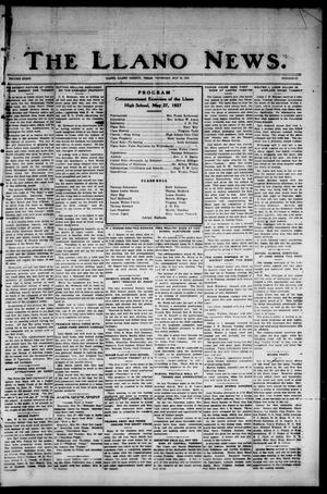 Primary view of object titled 'The Llano News. (Llano, Tex.), Vol. 39, No. 37, Ed. 1 Thursday, May 26, 1927'.