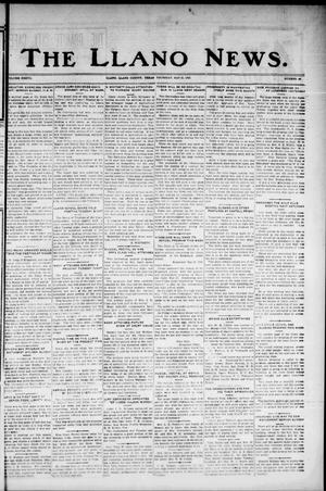 Primary view of object titled 'The Llano News. (Llano, Tex.), Vol. 37, No. 40, Ed. 1 Thursday, May 21, 1925'.