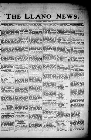 Primary view of object titled 'The Llano News. (Llano, Tex.), Vol. 36, No. 45, Ed. 1 Thursday, June 19, 1924'.
