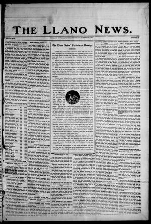 Primary view of object titled 'The Llano News. (Llano, Tex.), Vol. 44, No. 12, Ed. 1 Thursday, December 24, 1931'.