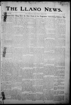 Primary view of object titled 'The Llano News. (Llano, Tex.), Vol. 30, No. 14, Ed. 1 Thursday, October 23, 1913'.