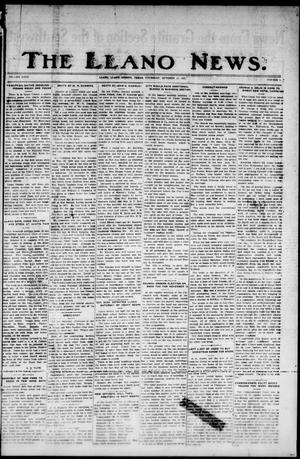 Primary view of object titled 'The Llano News. (Llano, Tex.), Vol. 40, No. 5, Ed. 1 Thursday, October 13, 1927'.