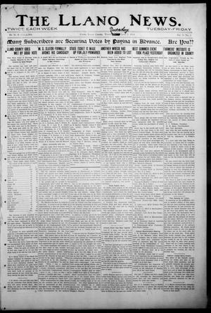 Primary view of object titled 'The Llano News. (Llano, Tex.), Vol. 31, No. 1, Ed. 1 Tuesday, June 2, 1914'.