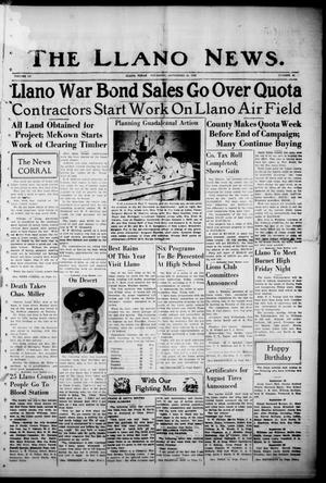 Primary view of object titled 'The Llano News. (Llano, Tex.), Vol. 55, No. 45, Ed. 1 Thursday, September 30, 1943'.