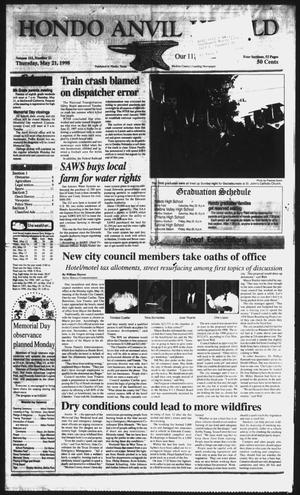 Primary view of object titled 'Hondo Anvil Herald (Hondo, Tex.), Vol. 112, No. 21, Ed. 1 Thursday, May 21, 1998'.