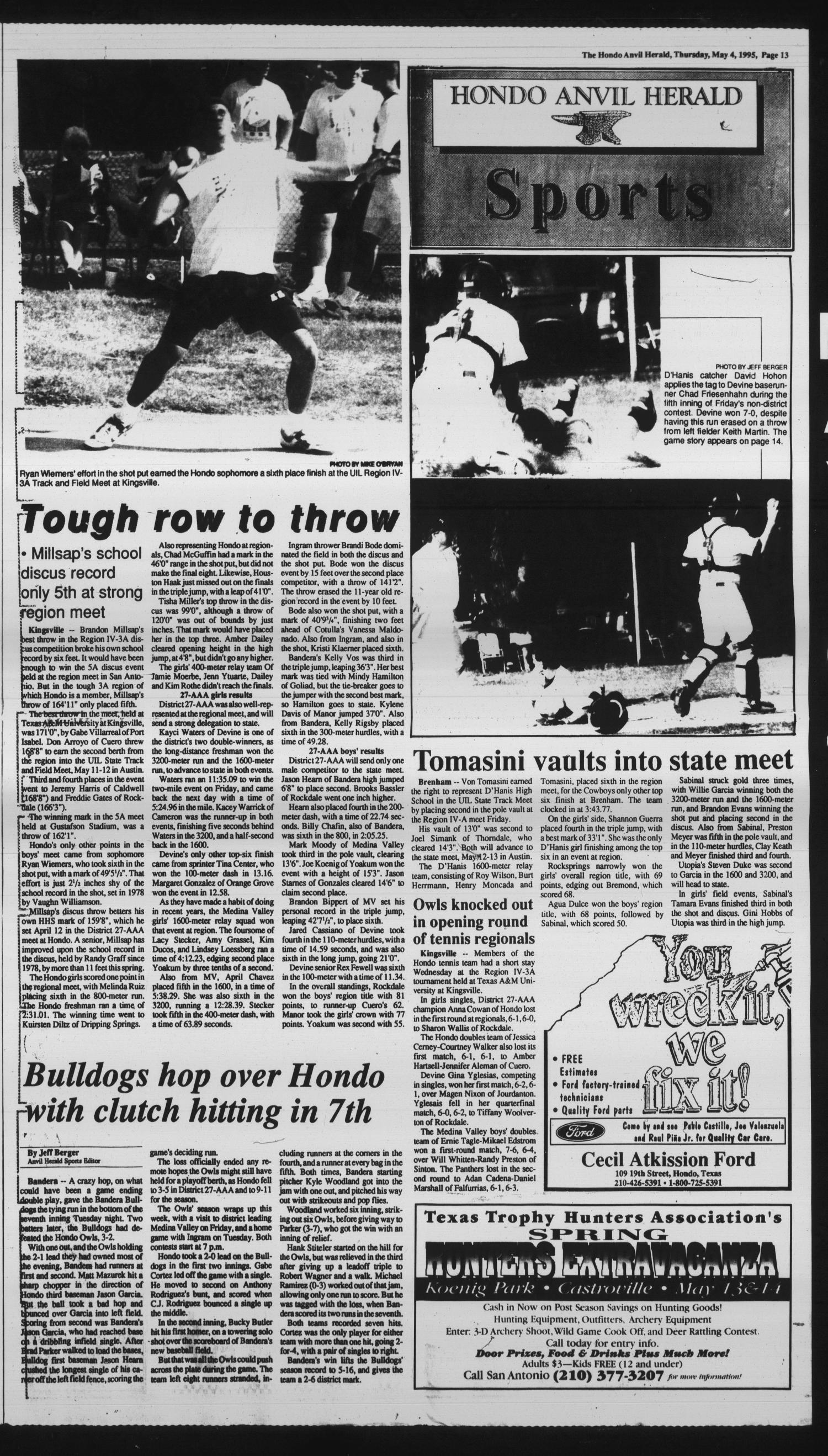 Hondo Anvil Herald (Hondo, Tex ), Vol  109, No  18, Ed  1