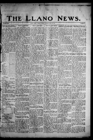 Primary view of object titled 'The Llano News. (Llano, Tex.), Vol. 43, No. 43, Ed. 1 Thursday, July 30, 1931'.