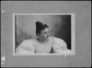 Primary view of object titled '[Photograph of Mamie E. Davis]'.