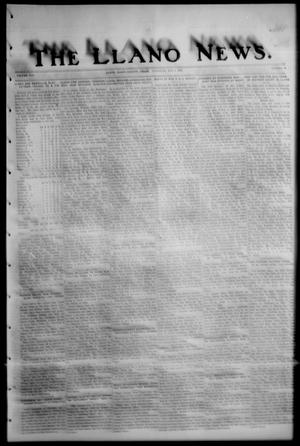 Primary view of object titled 'The Llano News. (Llano, Tex.), Vol. 42, No. 32, Ed. 1 Thursday, May 1, 1930'.