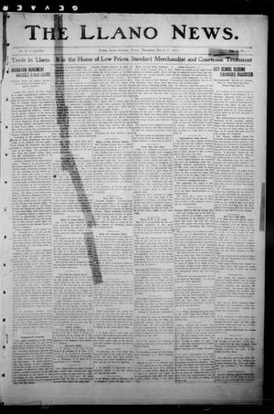 Primary view of object titled 'The Llano News. (Llano, Tex.), Vol. 30, No. 34, Ed. 1 Thursday, March 19, 1914'.
