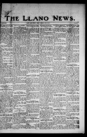 Primary view of object titled 'The Llano News. (Llano, Tex.), Vol. 39, No. 40, Ed. 1 Thursday, June 16, 1927'.