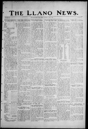 Primary view of object titled 'The Llano News. (Llano, Tex.), Vol. 45, No. 33, Ed. 1 Thursday, July 6, 1933'.