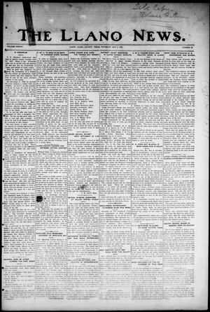 Primary view of object titled 'The Llano News. (Llano, Tex.), Vol. 38, No. 35, Ed. 1 Thursday, May 6, 1926'.