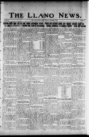 Primary view of object titled 'The Llano News. (Llano, Tex.), Vol. 41, No. 12, Ed. 1 Thursday, November 22, 1928'.