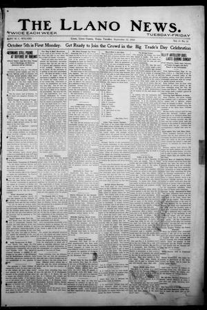 Primary view of object titled 'The Llano News. (Llano, Tex.), Vol. 31, No. 30, Ed. 1 Tuesday, September 22, 1914'.