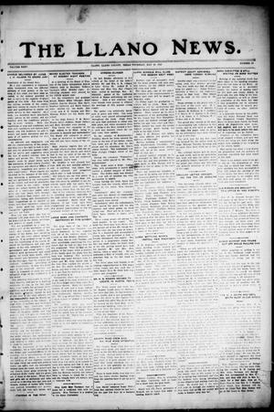 Primary view of object titled 'The Llano News. (Llano, Tex.), Vol. 35, No. 38, Ed. 1 Thursday, May 10, 1923'.