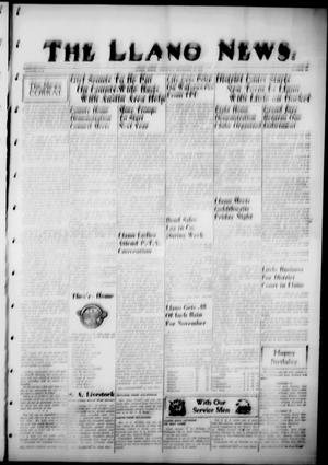 Primary view of object titled 'The Llano News. (Llano, Tex.), Vol. 57, No. 49, Ed. 1 Thursday, November 15, 1945'.