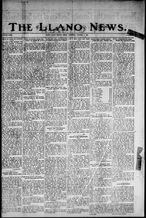 Primary view of object titled 'The Llano News. (Llano, Tex.), Vol. 40, No. 4, Ed. 1 Thursday, October 6, 1927'.