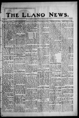 Primary view of object titled 'The Llano News. (Llano, Tex.), Vol. 44, No. 7, Ed. 1 Thursday, November 19, 1931'.