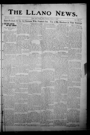 Primary view of object titled 'The Llano News. (Llano, Tex.), Vol. 30, No. 31, Ed. 1 Thursday, February 26, 1914'.