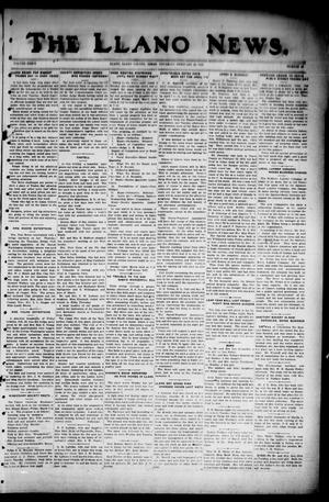 Primary view of object titled 'The Llano News. (Llano, Tex.), Vol. 36, No. 28, Ed. 1 Thursday, February 28, 1924'.