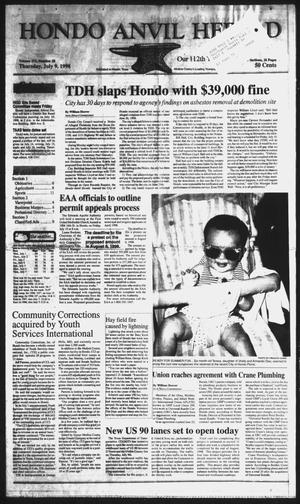 Primary view of Hondo Anvil Herald (Hondo, Tex.), Vol. 112, No. 28, Ed. 1 Thursday, July 9, 1998