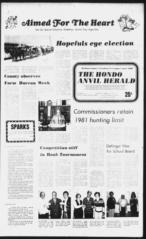 Primary view of object titled 'The Hondo Anvil Herald (Hondo, Tex.), Vol. 96, No. 6, Ed. 1 Thursday, February 11, 1982'.