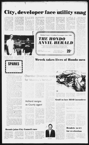 Primary view of object titled 'The Hondo Anvil Herald (Hondo, Tex.), Vol. 96, No. 9, Ed. 1 Thursday, March 4, 1982'.