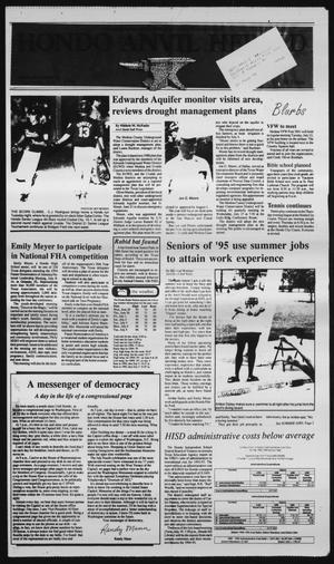 Primary view of Hondo Anvil Herald (Hondo, Tex.), Vol. 108, No. 28, Ed. 1 Thursday, July 7, 1994