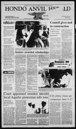 Primary view of Hondo Anvil Herald (Hondo, Tex.), Vol. 108, No. 20, Ed. 1 Thursday, May 19, 1994
