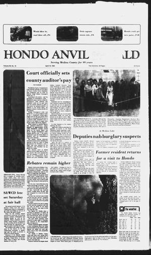 Primary view of object titled 'Hondo Anvil Herald (Hondo, Tex.), Vol. 99, No. 16, Ed. 1 Thursday, April 18, 1985'.