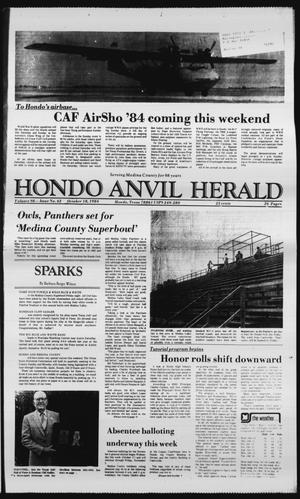 Primary view of object titled 'Hondo Anvil Herald (Hondo, Tex.), Vol. 98, No. 42, Ed. 1 Thursday, October 18, 1984'.