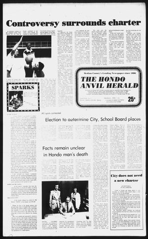 Primary view of object titled 'The Hondo Anvil Herald (Hondo, Tex.), Vol. 96, No. 13, Ed. 1 Thursday, April 1, 1982'.