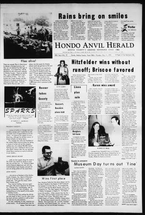 Primary view of object titled 'Hondo Anvil Herald (Hondo, Tex.), Vol. 85, No. 19, Ed. 1 Thursday, May 11, 1972'.