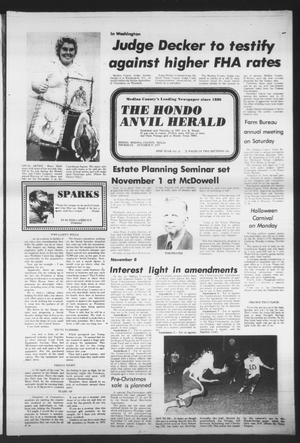 Primary view of object titled 'The Hondo Anvil Herald (Hondo, Tex.), Vol. 89, No. 43, Ed. 1 Thursday, October 27, 1977'.