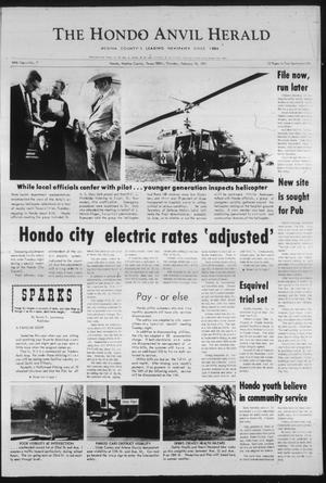 Primary view of object titled 'The Hondo Anvil Herald (Hondo, Tex.), Vol. 84, No. 7, Ed. 1 Thursday, February 18, 1971'.
