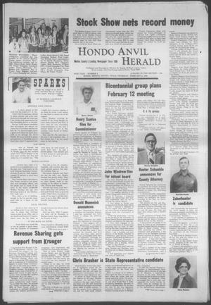 Primary view of object titled 'Hondo Anvil Herald (Hondo, Tex.), Vol. 88, No. 6, Ed. 1 Thursday, February 5, 1976'.