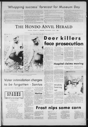 Primary view of object titled 'The Hondo Anvil Herald (Hondo, Tex.), Vol. 84, No. 15, Ed. 1 Thursday, April 15, 1971'.