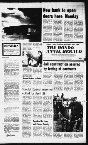 Primary view of object titled 'The Hondo Anvil Herald (Hondo, Tex.), Vol. 95, No. 16, Ed. 1 Thursday, April 16, 1981'.