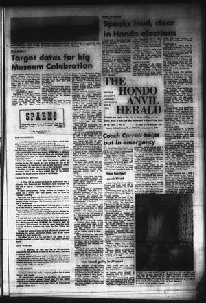 Primary view of object titled 'The Hondo Anvil Herald (Hondo, Tex.), Vol. 86, No. 15, Ed. 1 Thursday, April 11, 1974'.