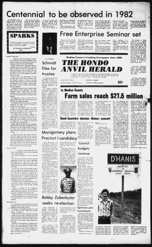 Primary view of object titled 'The Hondo Anvil Herald (Hondo, Tex.), Vol. 95, No. 10, Ed. 1 Thursday, March 5, 1981'.