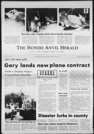 Primary view of object titled 'The Hondo Anvil Herald (Hondo, Tex.), Vol. 84, No. 13, Ed. 1 Thursday, April 1, 1971'.