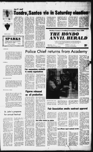 Primary view of object titled 'The Hondo Anvil Herald (Hondo, Tex.), Vol. 95, No. 26, Ed. 1 Thursday, June 25, 1981'.