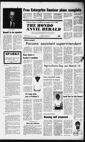 Primary view of object titled 'The Hondo Anvil Herald (Hondo, Tex.), Vol. 95, No. 11, Ed. 1 Thursday, March 12, 1981'.