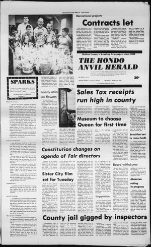 Primary view of object titled 'The Hondo Anvil Herald (Hondo, Tex.), Vol. 94, No. 12, Ed. 1 Thursday, March 20, 1980'.