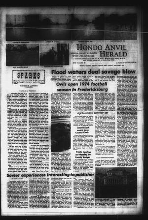 Primary view of object titled 'Hondo Anvil Herald (Hondo, Tex.), Vol. 86, No. 36, Ed. 1 Thursday, September 5, 1974'.
