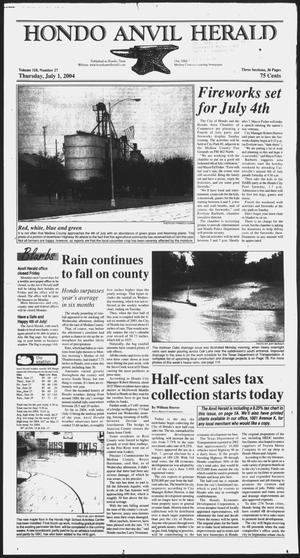 Primary view of object titled 'Hondo Anvil Herald (Hondo, Tex.), Vol. 118, No. 27, Ed. 1 Thursday, July 1, 2004'.