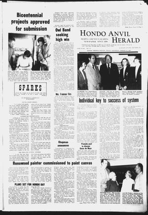 Primary view of object titled 'Hondo Anvil Herald (Hondo, Tex.), Vol. 87, No. 11, Ed. 1 Thursday, March 13, 1975'.